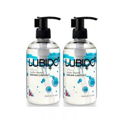 Lubido Water Based Lubricant - 250ml - Twin Pack